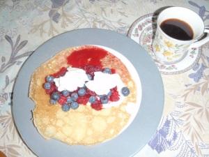 Refueling--crepe fruit delight
