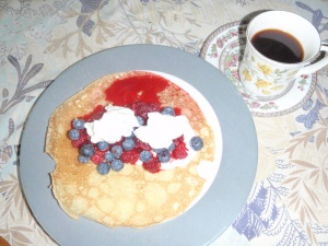 Refueling--crepe fruit delight